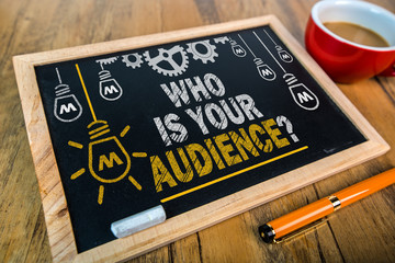 Who is you audience, what you want to sell.