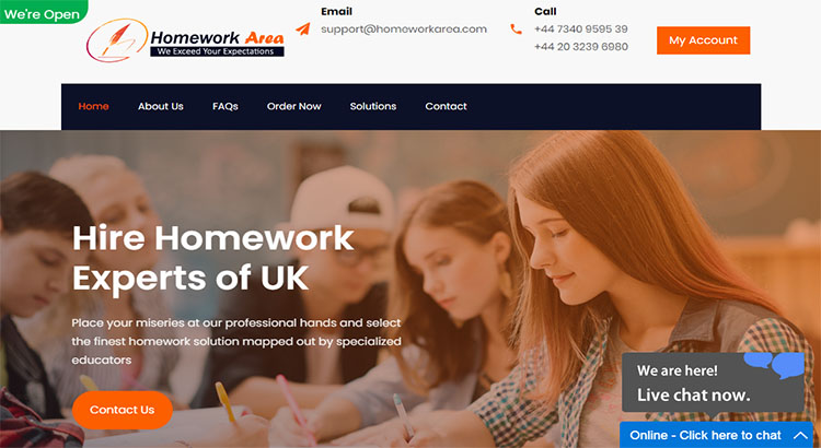Homework area website for best home work writing service providers.