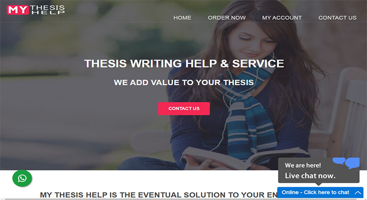 My thesis help website for top best thesis writing service.