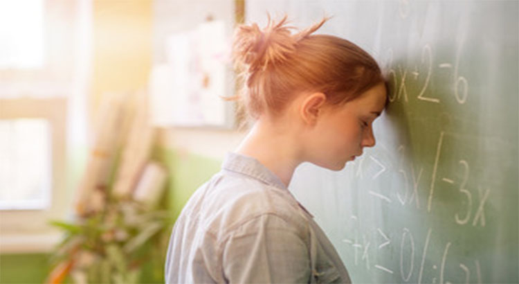 Pressure of studies put student in anxiety.
