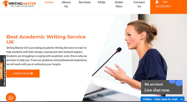 Writing Master website for TEFL assignment service provider.